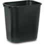 Rubbermaid Black Soft Molded Plastic Wastebasket, 28 1/8 Quart