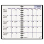 At-A-Glance Monthly Planner, Unruled ,1 Month/Spread, Tele Pgs., 3 3/4 x 6, Black
