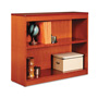 "Alera Wood Veneer 2-Shelf Square Corner Bookcase, Finished Back, 36"" x 12"" x 30"", Cherry"