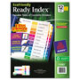 Avery Index Tabs, 1-12, Multicolor