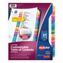 Avery Ready Index® Table of Contents Dividers, 31-Tab Set, Multicolor