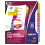 Avery Ready Index® Table of Contents Dividers, 8-Tab Set, Multicolor