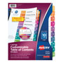Avery Ready Index® Table of Contents Dividers, 10-Tab Set, Multicolor