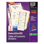 Avery Ready Index® Table of Contents Dividers Executive Kit, 5-Tab Set, Multicolor