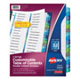 Avery Double-Column Ready Index® Dividers, 32-Tab Set, Assorted Colors