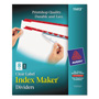 Avery Index Maker® Clear Label Dividers, Easy Apply™ Label Strip, 8-Tab, 5 Sets, Red