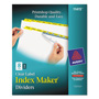 Avery Index Maker® Clear Label Dividers, Easy Apply™ Label Strip, 8-Tab, 5 Sets, Yellow
