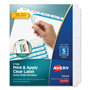 Avery Index Maker® Extra-Wide Clear Label Dividers, 5-Tab, 5 Sets, White