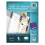 Avery Ready Index® Translucent Table of Contents Dividers, 12-Tab Set, Multicolor