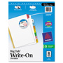 Avery Write On™ Index Dividers with Erasable Laminated Multicolor Tabs, 8 Tab Set