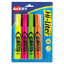 Avery Hi Liter® Desk Style, Assorted, Pack of 4