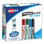 Avery Marks-A-Lot® Dry Erase Markers, Chisel/Bullet Point, 24 per Pack, Assorted