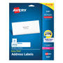 "Avery White Laser Address Labels with Smooth Feed Sheets™, 1x4"", 500 per Pack"