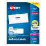 "Avery White Laser Address Labels on Smooth Feed Sheets™, 1 1/3x4"", 3500 per Pack"