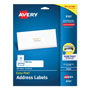 "Avery White Ink Jet Mailing Labels, 1""x4"", 500 per Pack"