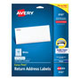 "Avery White Ink Jet Mailing Labels, 1/2""x1 3/4"", 2,000 per Pack"