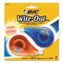 "Bic Correction Tape, Non-Refillable, 1/6"" x 400"", Two per Pack"