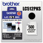 Brother LC51BK2PKS Black Ink Cartridge, 500 Pages