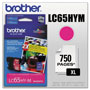 Brother LC65 Magenta High Yield Ink Cartridge, 750 Pages