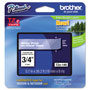 "Brother Lettering Tape, 3/4"" Size, White/Clear"
