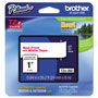 "Brother Lettering Tape, 1"" Size, Red/White"