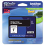 "Brother Lettering Tape, 1"" Size, White/Black"