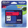 "Brother Lettering Tape, 3/4"" Size, Black/Red"
