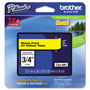 "Brother Lettering Tape, 3/4"" Size, Black/Yellow"