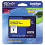 "Brother Lettering Tape, 1"" Size, Black/Yellow"