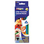 Dixon Triangular Colored Woodcase Pencil, 5.5 mm, Assorted, 12/Set