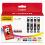 Canon Ink And Paper Combo Pack CLI-226 4 Color Pack - Ink Tank / Paper Kit
