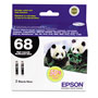 Epson Ink Cartridge, 370 Page Yield, 2/PK, Black