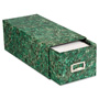 Pendaflex Reinforced Board 4 x 6 Card File with Pull Drawer, Green Marble