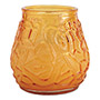 Fancy Heat F460-AM Victorian Filled Glass Candles, Amber