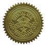 "Geographics ""Official Seal of Excellence"" Embossed Self Adhesive Gold Foil Seals, 100/Pack"