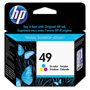 HP 49 Cyan/Magenta/Yellow Ink Cartridge ,Model 51649A ,Page Yield 10000