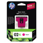 HP 02X Magenta Ink Cartridge ,Model C8731WN ,Page Yield 535