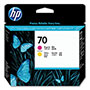 HP 70 Magenta/Yellow Ink Cartridge ,Model C9406A ,Page Yield 24000