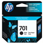 HP 701 Black Ink Cartridge, Model CC635A, Page Yield 350