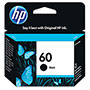 HP 60 Black Ink Cartridge, Model CC640WN, Page Yield 200