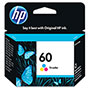 HP 60 Cyan/Magenta/Yellow Ink Cartridge ,Model CC643WN ,Page Yield 165