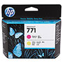 HP 771 Yellow Ink Cartridge ,Model CE018A ,Page Yield 600