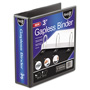 "Ideastream Gapless 3"" View Binder, Black"