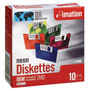 "Imation 3.5"" Disks, DS/HD, 5 Assorted Neon Colors, 10/Pack"