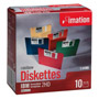 "Imation 3.5"" Diskettes, IBM Format, DS/HD, 5 Assorted Colors, 10/Box"