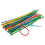 "Innovera Cable Ties, 6 3/8"" Length, Assorted Colors, 50 Ties/Pack"