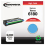 Innovera 6180C Compatible Reman High-Yield Toner, 6,000 Page Yield, Cyan