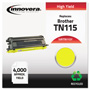 Innovera Remanufactured TN115Y High-Yield Toner, Yellow