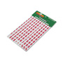 "Magna Visual Magnetic Board Numbers, 3/4"" High Red on White, 110/Set"