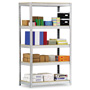 "Metal Box International Industrial Open Shelving Unit, 48"" x 18"", 5 Shelves, Silver"